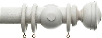 Alison Davies Acanthus Vintage 45mm Curtain Pole, French Grey, Chateau