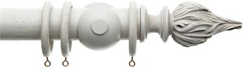 Alison Davies Acanthus Vintage 45mm Curtain Pole, French Grey, Flambeau