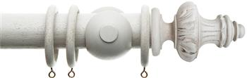 Alison Davies Acanthus Vintage 45mm Curtain Pole, French Grey, Amelie
