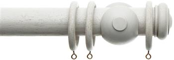 Alison Davies Acanthus Vintage 45mm Curtain Pole, French Grey, Bouton