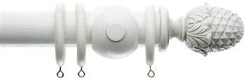 Alison Davies Acanthus Vintage 45mm Curtain Pole, Faded White, Enchante