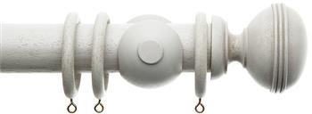 Alison Davies Acanthus Vintage 45mm Curtain Pole, Faded White, Bagatelle