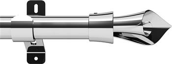 Swish Design Studio 28mm Standard Eyelet Curtain Pole, Chrome, Blossom