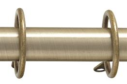 Kestrel Durham 19mm Metal Curtain Pole Rings, Antique Brass