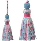 Jones Portobello Cushion Key Tassel, Bluebell