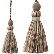Jones Portobello Cushion Key Tassel, Cappuccino