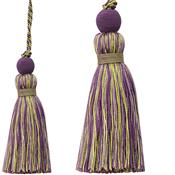 Jones Portobello Cushion Key Tassel, Grape