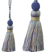 Jones Portobello Cushion Key Tassel, Indigo