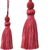 Jones Portobello Cushion Key Tassel, Red