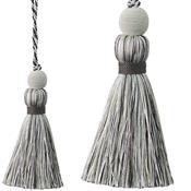 Jones Portobello Cushion Key Tassel, Silver