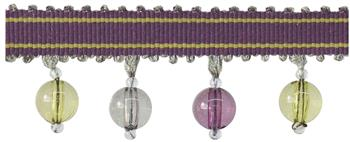 Jones Portobello Beaded Fringe Trimming, Grape