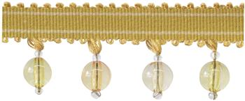 Jones Portobello Beaded Fringe Trimming, Gold
