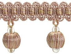 Rolls Radiance Ball Tassel Trimming, Rose Gold