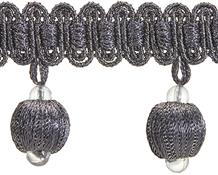 Rolls Radiance Ball Tassel Trimming, Pewter