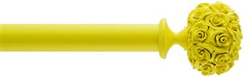Byron & Byron 35mm, 45mm, 55mm Neon Floral Curtain Pole Posy, Yellow