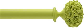 Byron & Byron 35mm, 45mm, 55mm Neon Floral Curtain Pole Posy, Lime Green