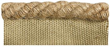Rolls Naturals Flanged Cord Curtain Trimming, Jute