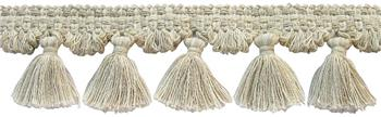 Rolls Naturals Tassel Fringe Curtain Trimming, Natural/Linen