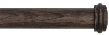 Byron & Byron Rustica 35mm, 45mm and 55mm Curtain Pole, Toasted Oak, Endcap