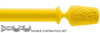 Byron & Byron 35mm Neon Floral Double Pole Yellow, Daisy
