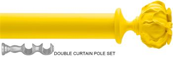 Byron & Byron 35mm Neon Floral Double Pole Yellow, Peony