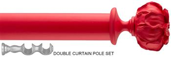 Byron & Byron 35mm Neon Floral Double Pole Red, Peony