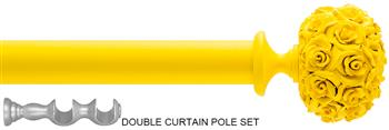 Byron & Byron 35/55mm Neon Floral Double Pole Yellow, Posy