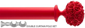 Byron & Byron 35/55mm Neon Floral Double Pole Red, Posy