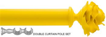 Byron & Byron 35/55mm Neon Floral Double Pole Yellow, Rose