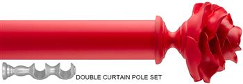 Byron & Byron 35/55mm Neon Floral Double Pole Red, Rose