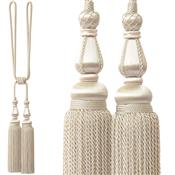 Jones Blenheim Rope Curtain Tieback, Oyster