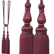 Jones Blenheim Rope Curtain Tieback, Wine