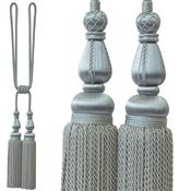 Jones Blenheim Rope Curtain Tieback, Silver