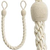 Rolls Reflections Small Rope Tieback Embrace, Natural Cream