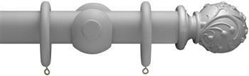 Advent 47mm Shades of Grey Wood Curtain Pole, Urban Grey, Ball & Berry