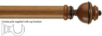 Byron & Byron 33mm, 43mm Pole Aercolaneum Cherrywood/Black