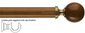 Byron & Byron 33mm, 43mm Pole Modern Ball Cherrywood/Gilt Detail