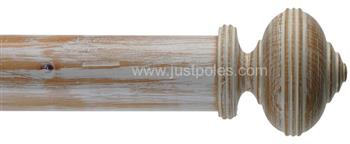 Byron Classic 55mm, 67mm Curtain Pole Hardwick Stripped Pine