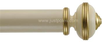 Byron Classic 55mm, 67mm Pole Hardwick Antique Cream/Gilt Detail