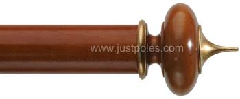 Byron Classic 55mm, 67mm Pole Alton Cherrywood/Gilt Detail