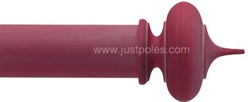 Byron & Byron Classic 55mm, 67mm Curtain Pole Alton Red