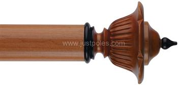 Byron Classic 55mm, 67mm Pole Wimpole Cherrywood/Ant Black Detail