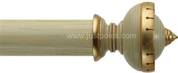 Byron Classic 55mm,67mm Pole Fonthill Buttermilk Scratched/Gilt Detail