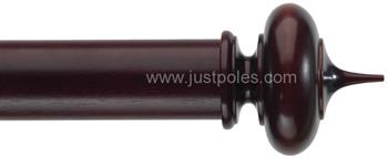 Byron & Byron Classic 55mm, 67mm Curtain Pole Alton Mahogany