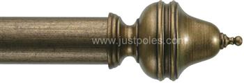 Byron & Byron Classic 55mm, 67mm Curtain Pole Clandon Ant Gilt