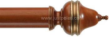 Byron Classic 55mm, 67mm Curtain Pole Clandon Cherrywood/Gilt