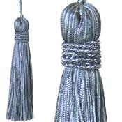 Jones Curtain Rope Key Tassel Metallic, Gun Metal