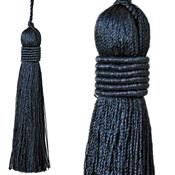 Jones Curtain Rope Key Tassel Metallic, Black