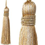 Jones Curtain Rope Key Tassel Metallic, Gold