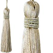 Jones Curtain Rope Key Tassel Metallic, Sand